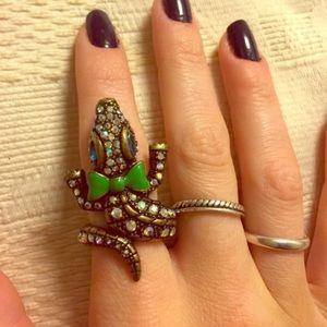 NWOT- Betsey Johnson Alligator Ring